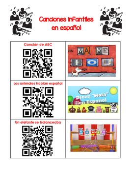 QR Codes - 19 Spanish Songs