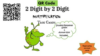 QR Codes- 2 Digit by 2 Digit Multiplication Task Cards