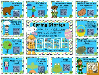 QR Codes - 23 Spring Stories *Great for Listening Centers K-2