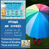QR Codes - 23 Spring Stories *Great for Listening Centers Kindergarten 1st 2nd
