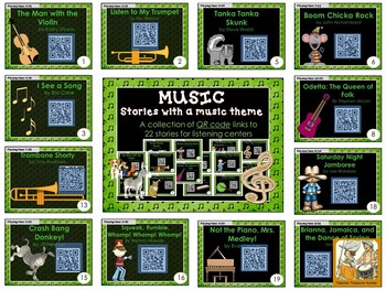 QR Codes - 22 stories with a MUSIC theme ~ listening centers Daily 5
