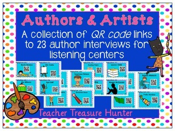 QR Codes - 23 Author Interviews ~ listening centers ~ Writing