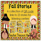 QR Codes - 23 FALL Stories *Great for Listening Centers K-3