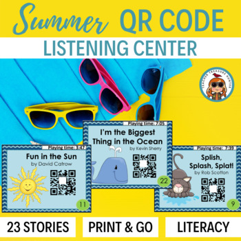 QR Codes - 23 Summer Stories *Great for Listening Centers K-2