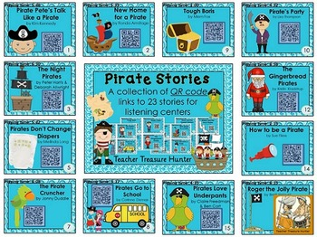 QR Codes - 23 stories ~ PIRATES theme ~ listening centers Daily 5