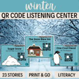 QR Codes - 23 stories for WINTER  *Great for Listening Centers K 1st Grade 2nd