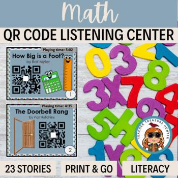 QR Codes - 23 stories with a MATH theme ~ listening center