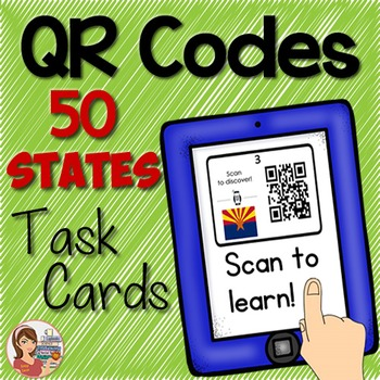 QR Codes 50 States Task Cards