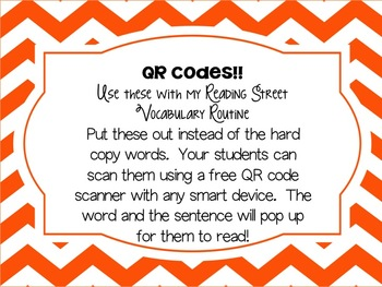 5th grade Reading Street: Unit 5 week 3 Talk with an Astronaut: QR Codes