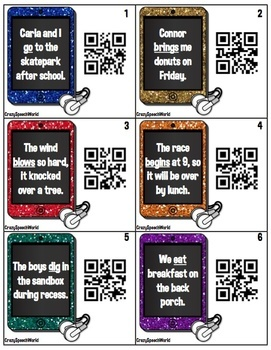 QR Codes Activity for Irregular Past Tense Verbs