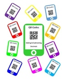 QR Codes Adding Decimals and Subtracting Decimals Task Cards