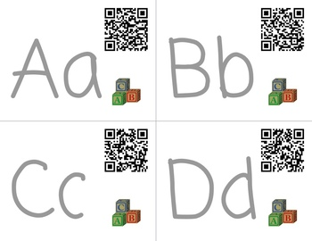 QR Codes Alphabet Recognition, Sound and Path of Movement with Jack Hartmann