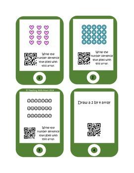 QR Codes Arrays Task Cards