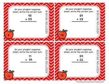 Addition Task Cards: QR Codes (with and without regrouping)