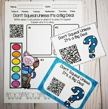 Back to School QR Codes Listening Center Bundle