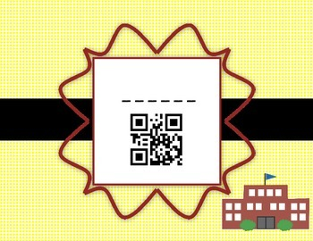 QR Codes  Back to School Words