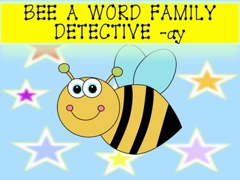 QR Codes Bee a Word Family Detective -ay --ump -ing