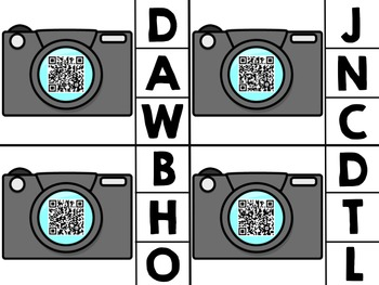 QR Codes Beginning Sounds (Photography Themed)