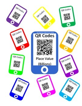 QR Codes Billions Place Value Task Cards [Self Checking]