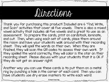 Short Vowels CVC Words with QR Codes: Find, Write, and Scan