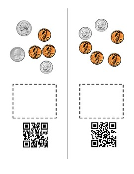 QR Codes Coin Practice Core Curriculum - Money