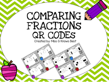 QR Codes: Comparing Fractions