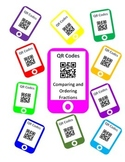 QR Codes Comparing Fractions and Ordering Fractions Task Cards
