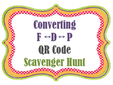 QR Codes Converting Decimals Percents Fractions Scavenger Hunt