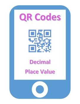 QR Codes Decimal Place Value Task Cards