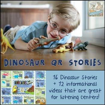 QR Codes ~Dinosaur Collection ~ 16 Stories +12 *Great for Listening Centers K-2