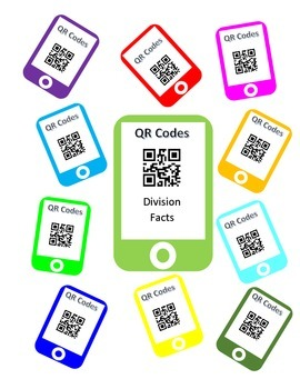 QR Codes Division Facts Task Cards