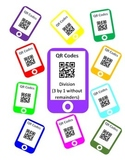 QR Codes Division Task Cards (3 by 1 without Remainders)