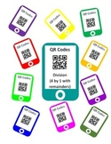 QR Codes Division Task Cards (4 by 1 with Remainders)
