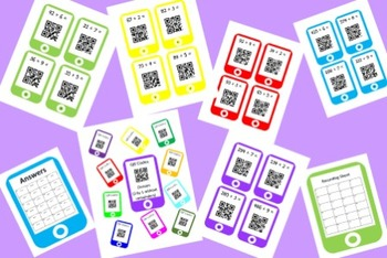 QR Codes Division Task Cards Bundle