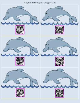 QR Codes - Dolphin Cards for Student Numbers
