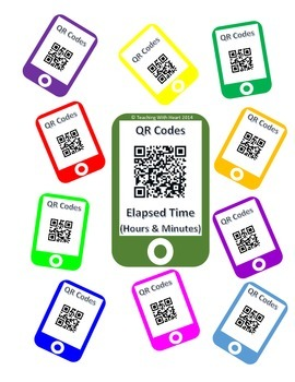 QR Codes Elapsed Time Task Cards (Hours and Minutes)
