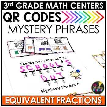 QR Codes Equivalent Fractions June Math Center