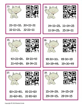 Fact Families - Task Cards with QR Codes