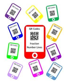 QR Codes Fraction Number Line Task Cards