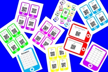 QR Codes Fraction Task Card Bundle