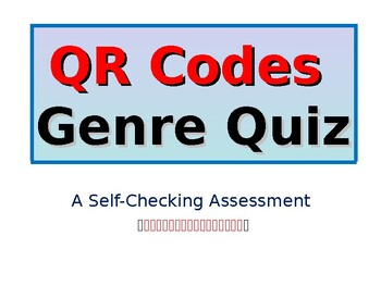 QR Codes Genre Quiz - Self-Checking