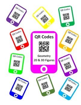 QR Codes Geometry Task Cards - 2D & 3D Figures