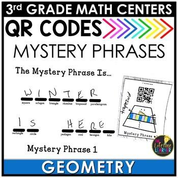 QR Codes Geometry January Math Center