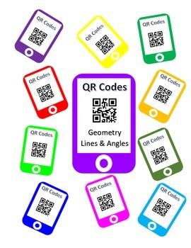 QR Codes Geometry Task Cards - Lines & Angles