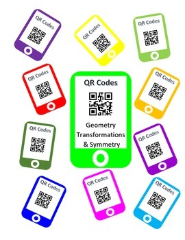 QR Codes Geometry Task Cards - Transformations & Symmetry