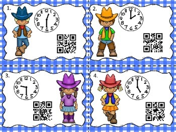 QR Codes: Giddy Up Time Scoot (Cowboy Theme) :00 and :30