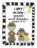 QR Codes: I Spy QR Codes Spanish Word Detective palabras 21-40