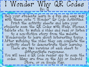 QR Codes I Wonder How?