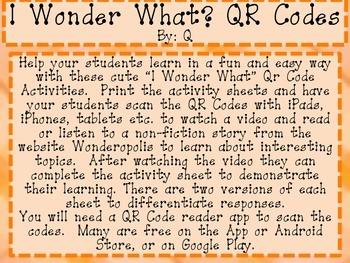 QR Codes I Wonder What?