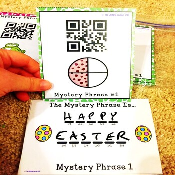 Easter QR Codes Fractions Game